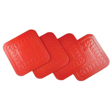 Tenura Anti Slip Coaster Red