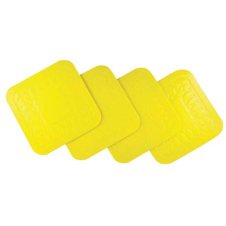 Tenura Anti Slip Coaster Yellow