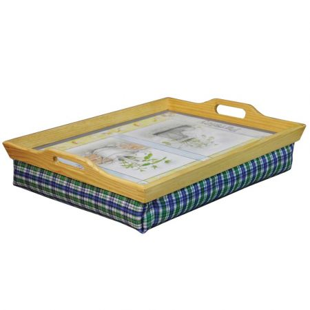 Wooden Lap Tray Patterned